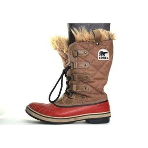 SOREL JOAN OF ARCTIC Boots faux fur lace up 7